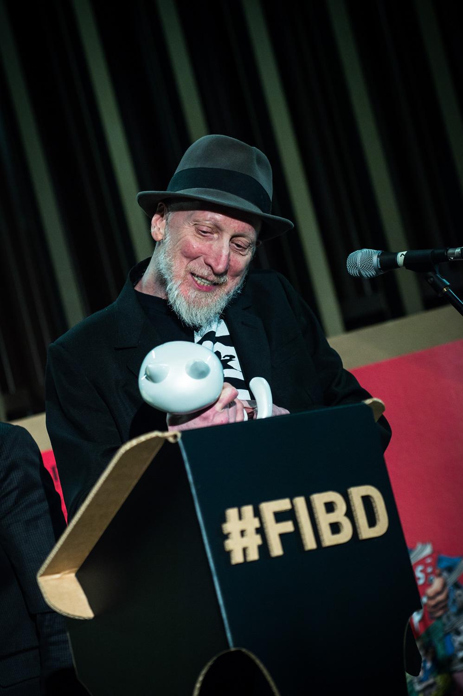 Cérémonie d'ouverture du FIBD 2019, l'Alpha. Frank Miller.