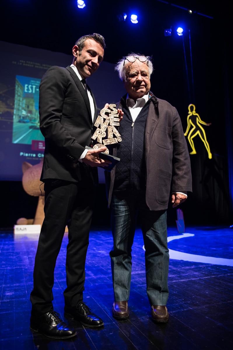 Cérémonie de Remise des Fauves. Pierre Christin, prix René Goscinny 2019. Théâtre d'Angoulême.