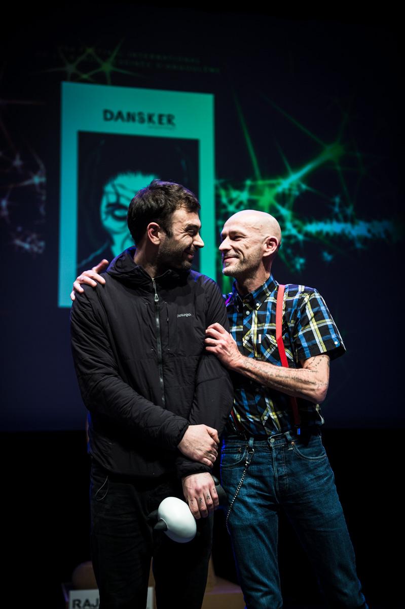 Cérémonie de Remise des Fauves, Théâtre d'Angoulême. Halfdan Pisket, Fauve de la Série pour 'Dansker'.