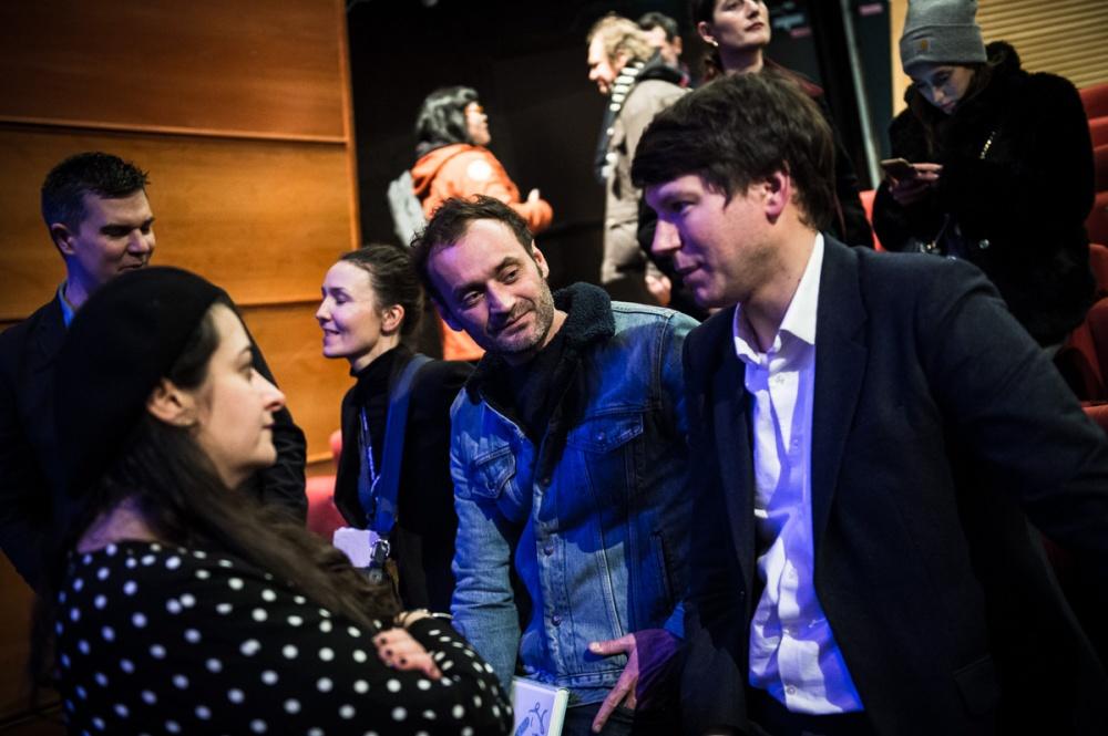 Cérémonie de Remise des Fauves, Théâtre d'Angoulême. Les membres du Grand Jury après la cérémonie.