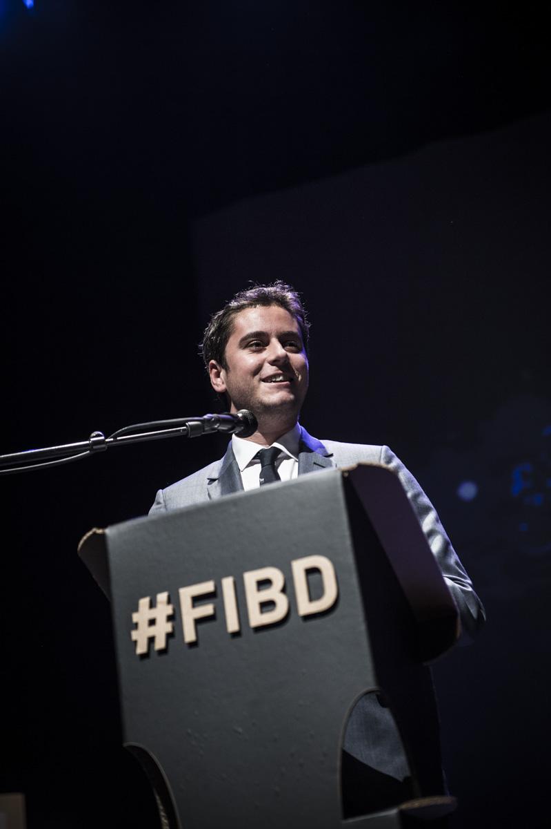 Cérémonie de remise des Prix Découvertes, Théâtre d'Angoulême. Gabriel Attal, secrétaire d'état auprès du ministre de l'éducation. Théâtre d'Angoulême.