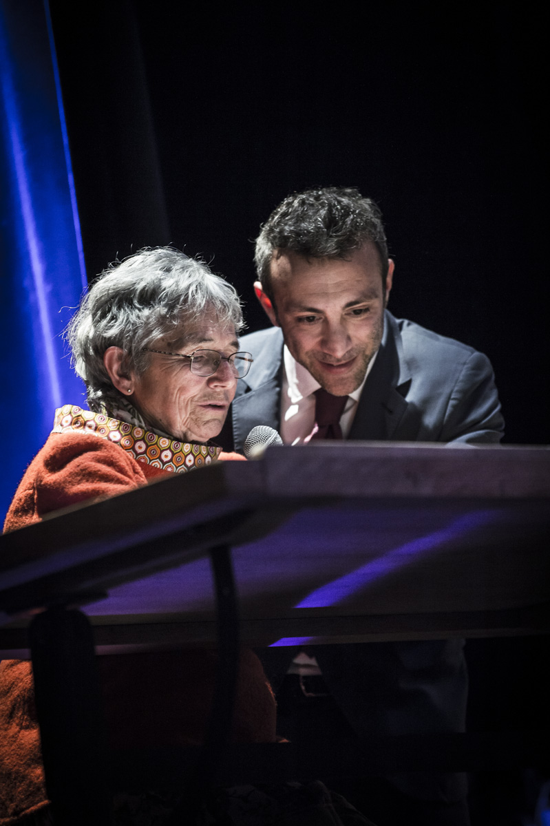 Cérémonie de remise des Prix Découvertes. Bernadette Després et Stéphane Beaujean. Théâtre d'Angoulême.
