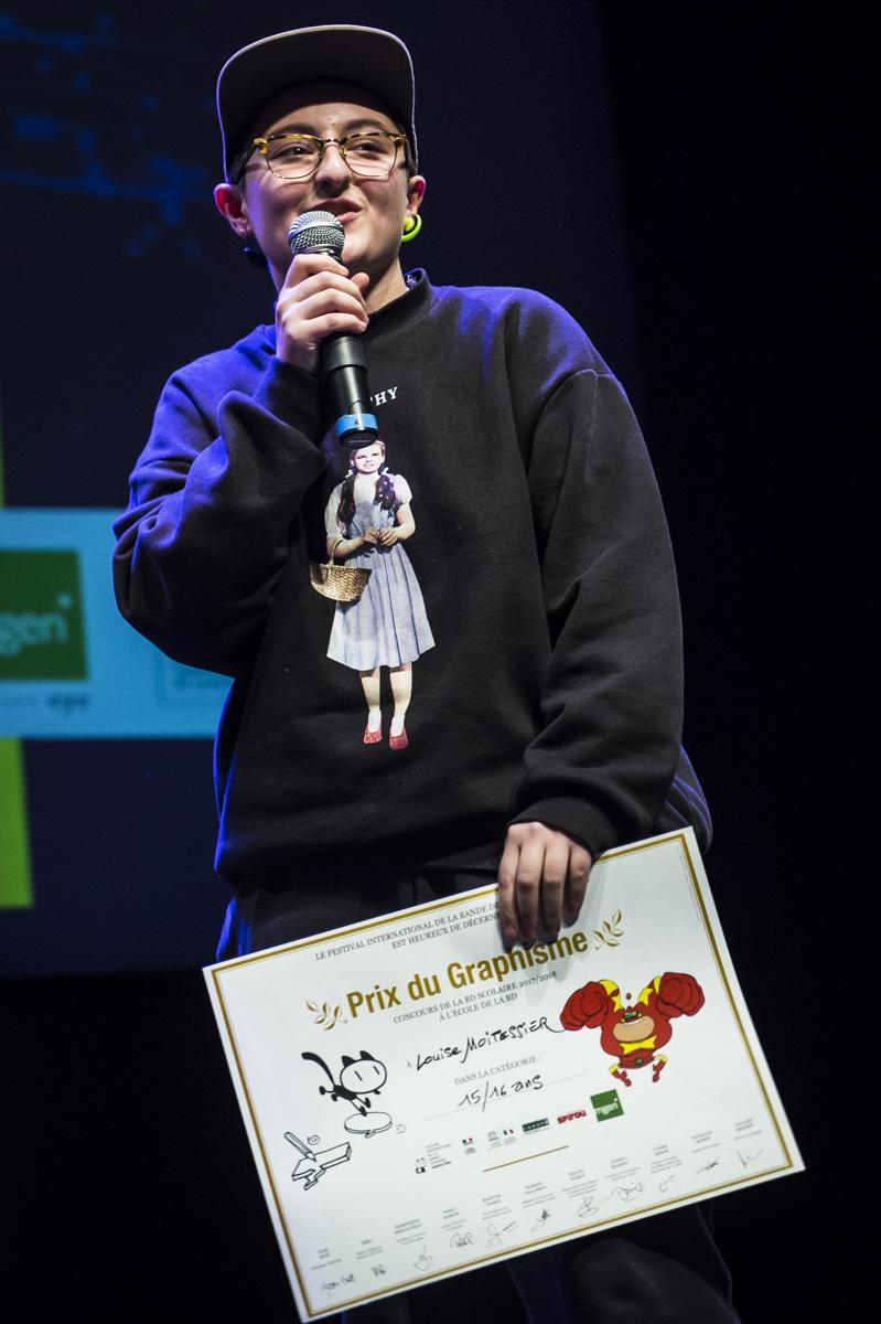 Cérémonie de remise des Prix Découvertes. Prix Graphisme Louise Moitessier