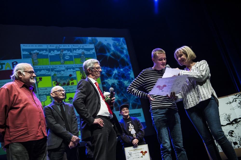 Cérémonie de remise des Prix Découvertes. Prix Angoulême  Julien Auclair