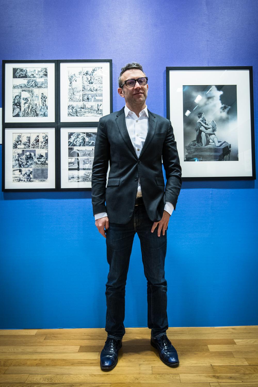 Exposition Richard Corben, Donner Corps à l'Imaginaire, Musée d'Angoulême. Stéphane Beaujean, directeur artistique du FIBD.