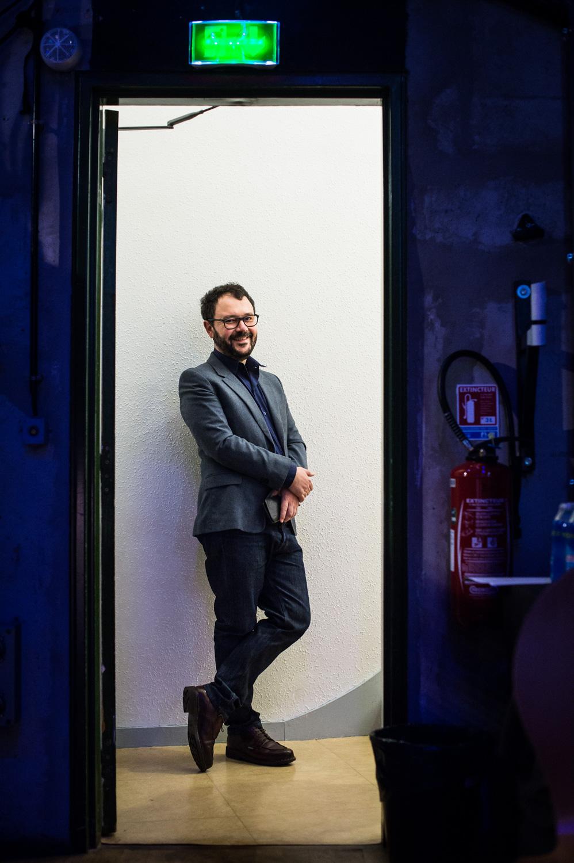 Riad Sattouf backstage. Master Class Riad Sattouf, espace Franquin.