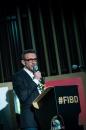 Cérémonie d'ouverture du FIBD 2019, l'Alpha. Stéphane Beaujean, directeur artistique du FIBD.