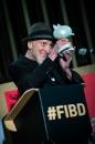 Cérémonie d'ouverture du FIBD 2019, l'Alpha. Frank Miller et son Fauve d'Honneur.