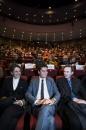 Cérémonie de remise des Prix Découvertes, Théâtre d'Angoulême. Gabriel Attal, secrétaire d'état auprès du ministre de l'éducation, et Franck Bondoux. Théâtre d'Angoulême.